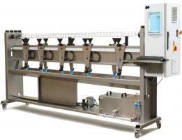 دستگاه تست میزان آبدهی و تست هیدرواستاتیک نوار و لوله آبیاری قطره ای -اندازه گیری دبی و محاسبات نتیجه آزمون اتوماتیک-AHP