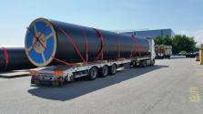 تولید لوله های پلی اتیلنی با قطر 2.5 متر